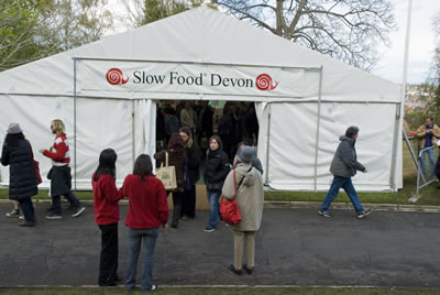 Slow Food Devon tent